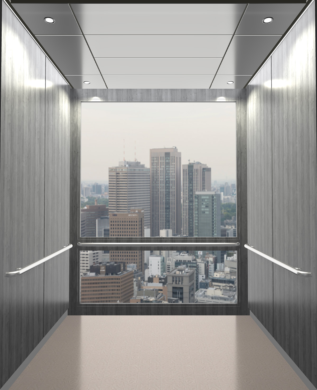 Rendered view of Design 4 elevator