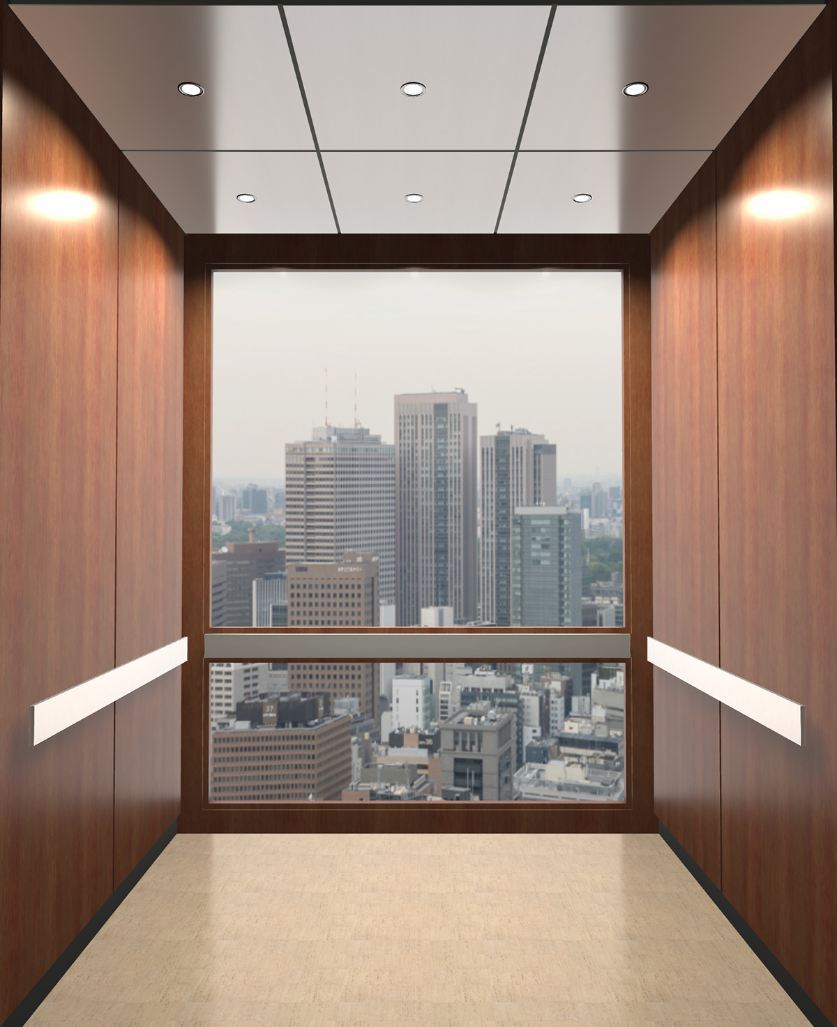 Rendered view of Design 11 elevator