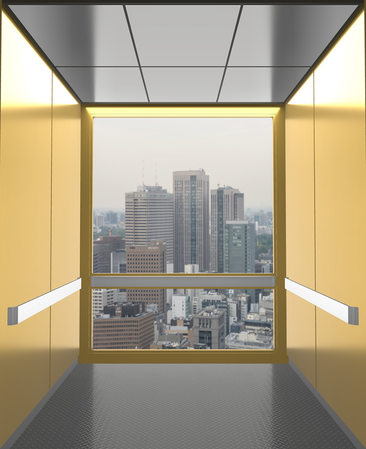 Rendered view of Design 15 elevator
