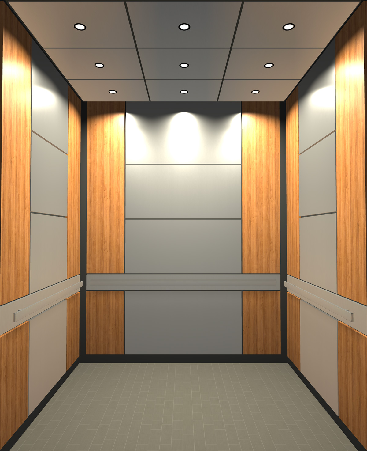 Rendered view of Design 2 elevator