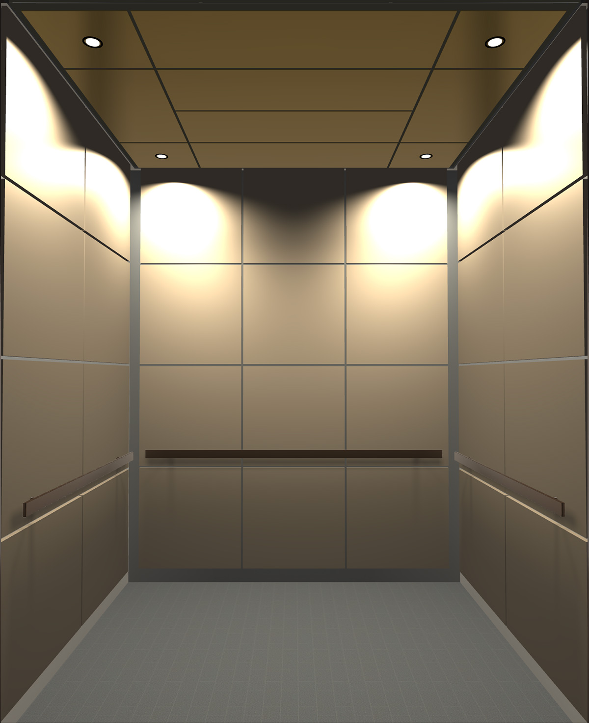 Rendered view of Design 3 elevator