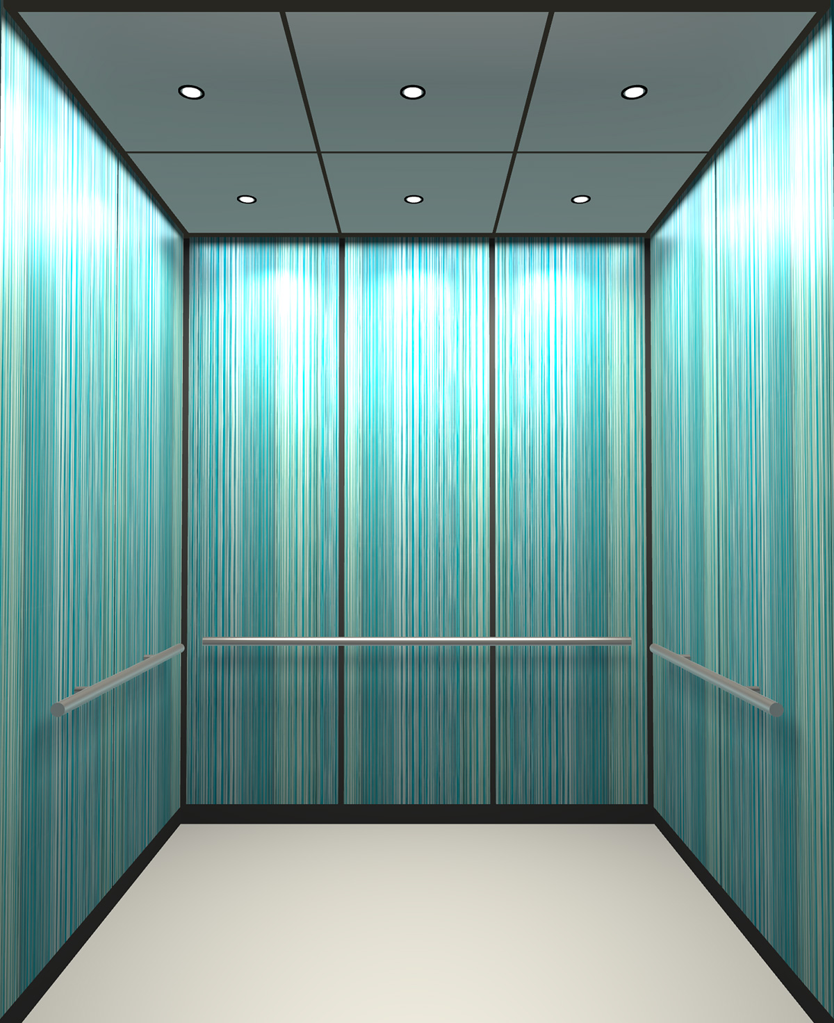 Rendered view of Design 5 elevator