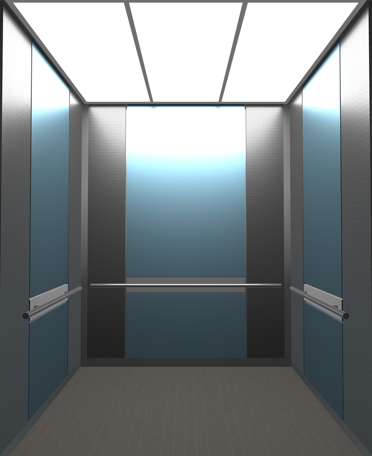 Rendered view of Design 7 elevator