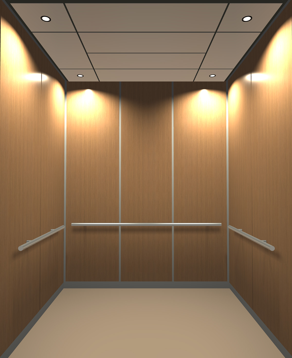 Rendered view of Design 10 elevator