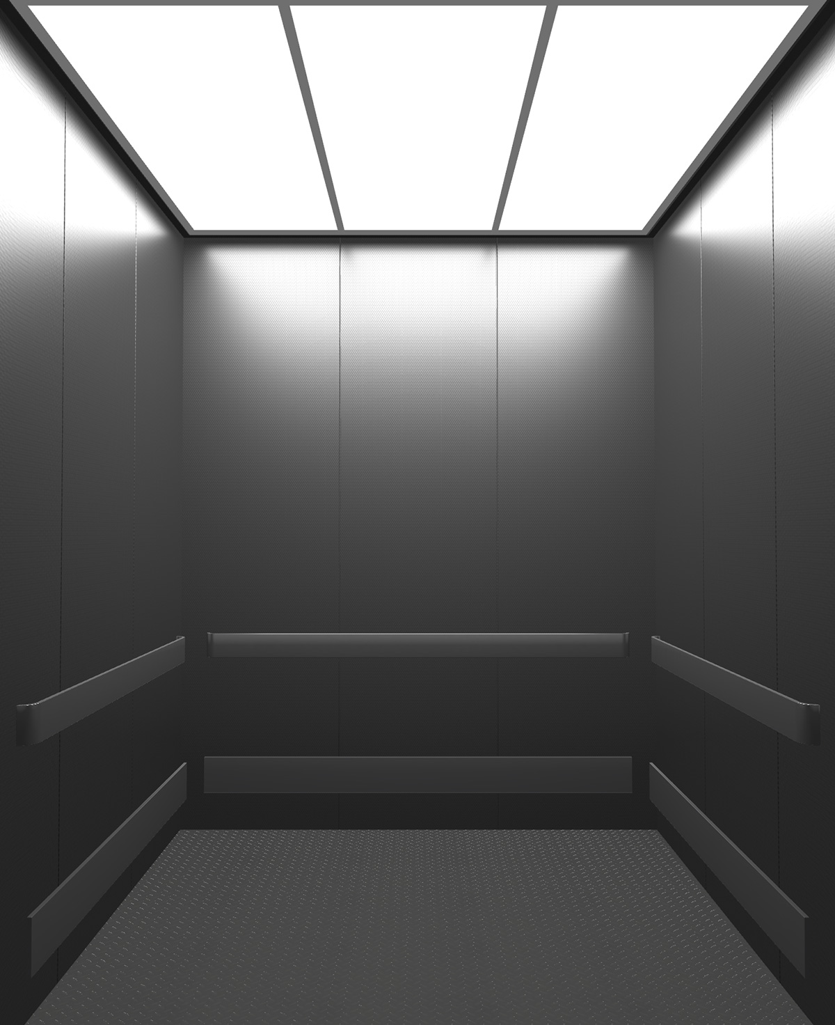 Rendered view of Design 9 elevator