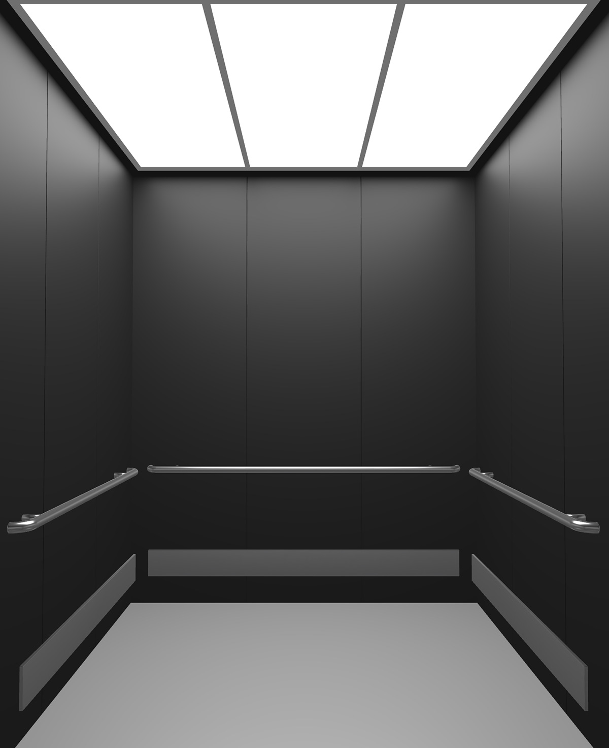 Rendered view of Design 14 elevator